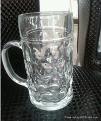 1L  bump glass beer  glass mug