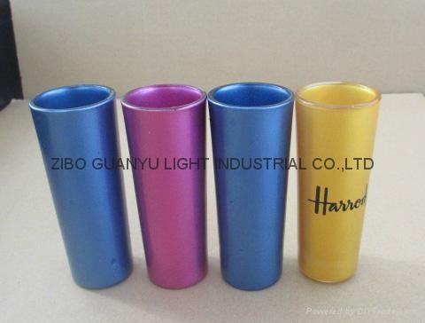 sublimation 2.5oz shot glass,golden rim 1