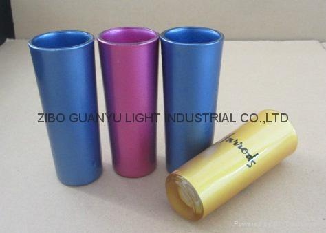 sublimation 2.5oz shot glass,golden rim 2