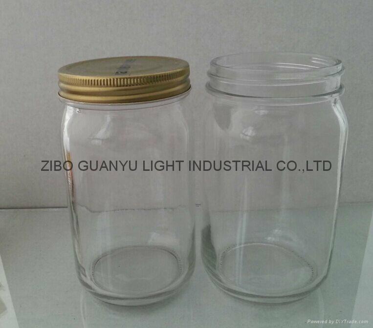 32oz mason jar with metal cap 1