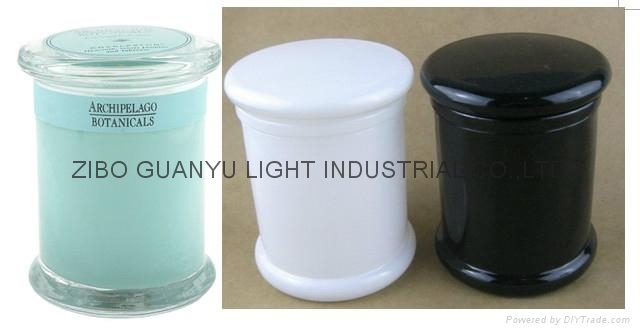 glass metro jar,candle jar with lid,12oz glass jar 1