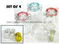 mini  glass jar with clip top 100ml