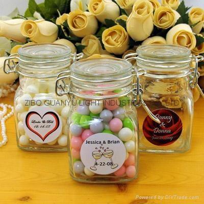 mini  glass jar with clip top 100ml 3