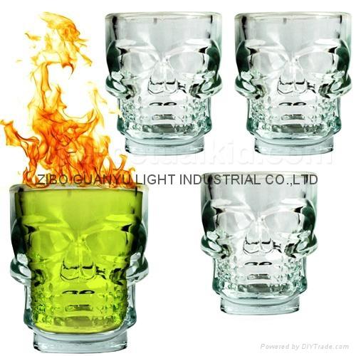 hot sale skull head shot glass,skull shot glass 1