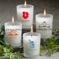 frosted glass candle holder with decal  1