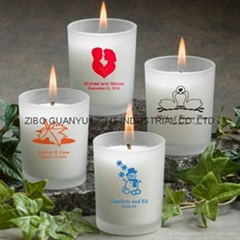 frosted glass candle holder with decal  (Hot Product - 1*)