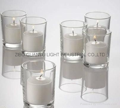 frosted glass candle holder with decal  2