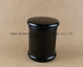 black glass candle jar,12oz metro jar