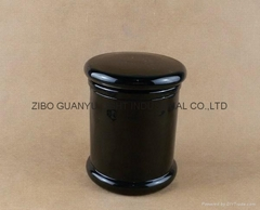 black glass candle jar,1 (Hot Product - 1*)