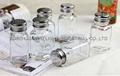 square glass spice jar with SS lid,100ml glass cruet 2