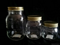 glass mason jar with metal cap,250,500