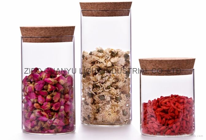 high borosilicate glass tube with cork,cylinder glass jar 2