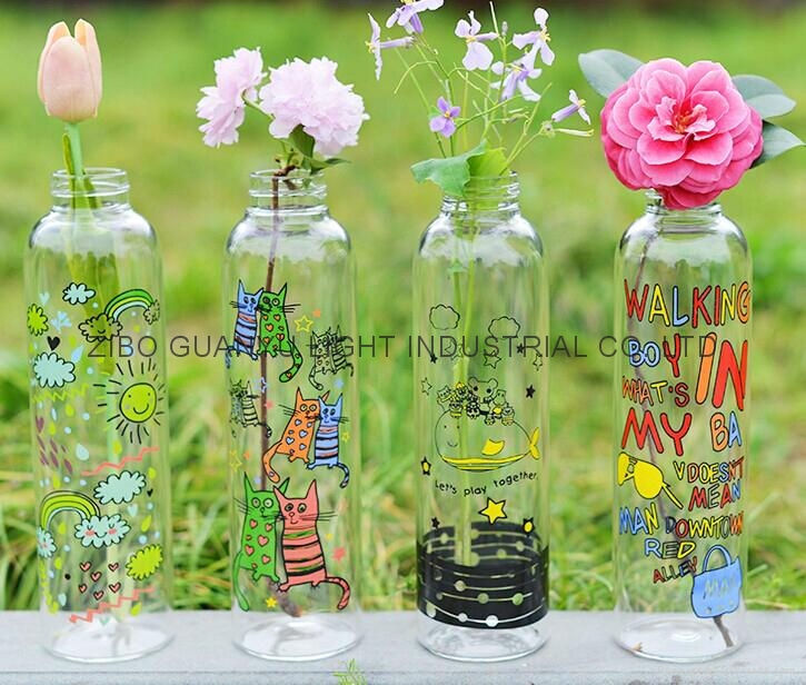 sublimation glass bottle with ss lid,sport glass bottle 5