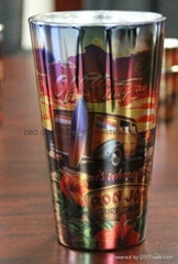 16oz METALIC SUBLIMATION PINT GLASS