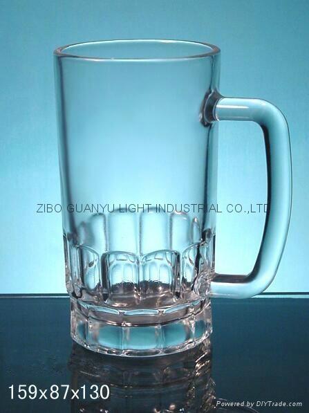 Glass Beer Stein,Sublimation beer mug 20OZ glass mug 1