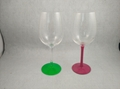 Wicked Wine glass with handpainted stem 4