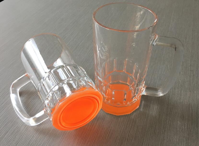 Glass Beer Stein,Sublimation beer mug 20OZ glass mug 2