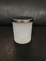 frosted glass candle holder with metal