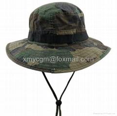 探險家叢林迷彩寬檐釣魚漁夫帽
