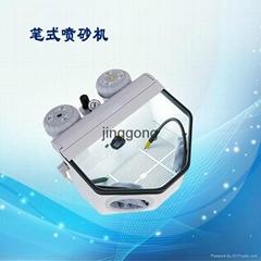 天津精工醫療新型雙筆式噴砂機雙筆雙缸外接吸塵器