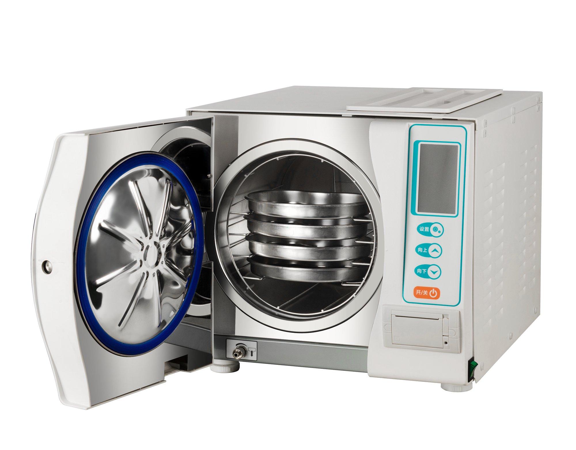 全自动打印式三次脉动真空压力蒸汽灭菌器 18L打印日期参数 2