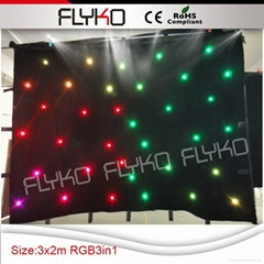 led star curtain for wedding decoration