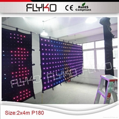 Free shipping led stage backdrop exhibition display show