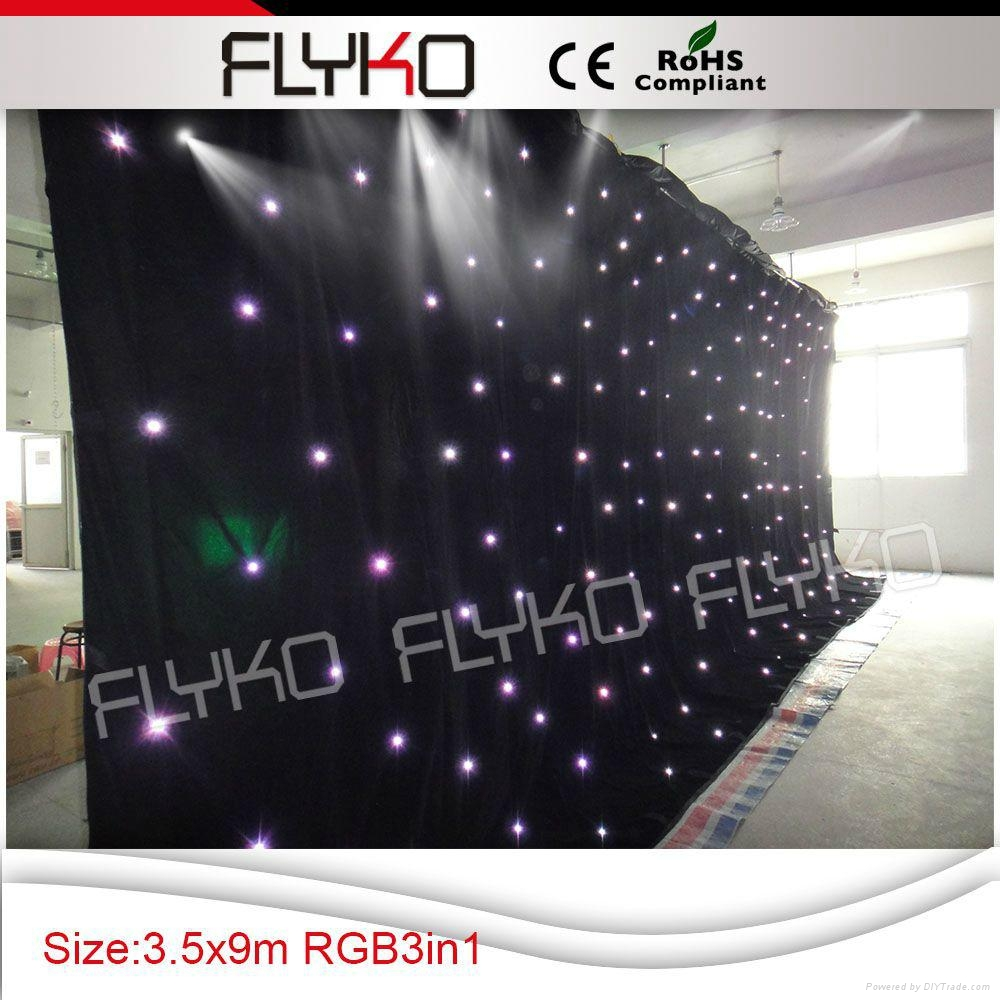 Free shipping China led lighted stage backdrop 4