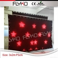led video curtain stage backdrop
