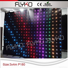 music studio equipment led background stage curtain