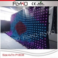 Free shipping indoor led stage curtain
