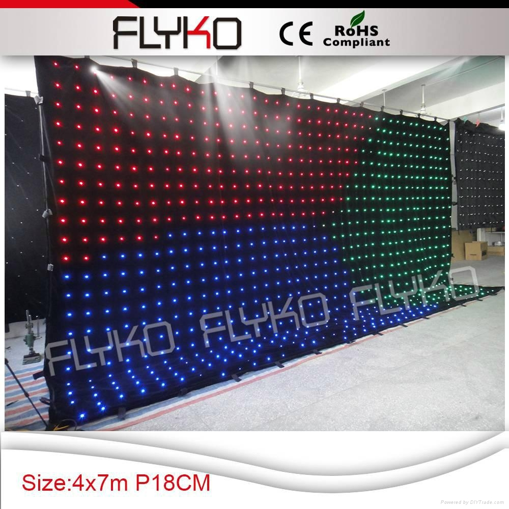 Free shipping indoor led stage curtain 3