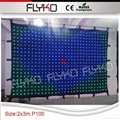 Free shipping 2mtrx3mtr led video curtain