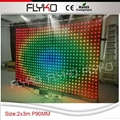 Free shipping indoor p9 led stage background curtain