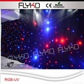 RGB-UV star sky led lights led star cloth led vision star curtain