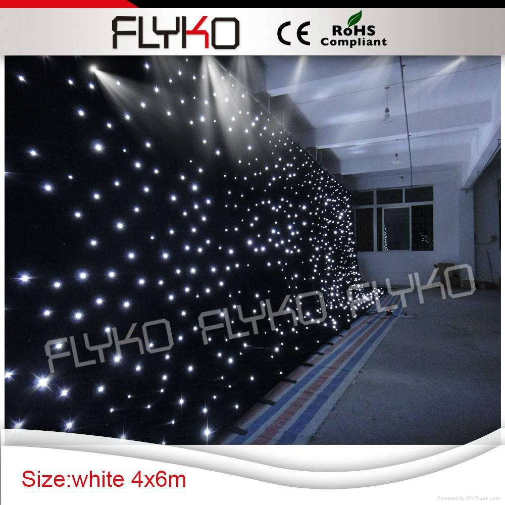 Flyko stage free shipping fireproof cloth led white star cloth 1