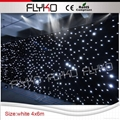Flyko stage free shipping fireproof cloth led white star cloth