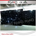 Flyko stage free shipping fireproof cloth led white star cloth 2