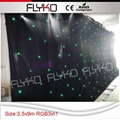 2015 factroy price popular led star cloth for wedding
