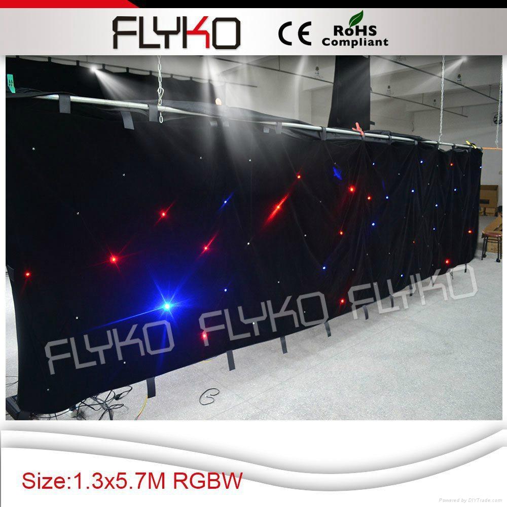 RGBW color led star vision stage backdrop 3