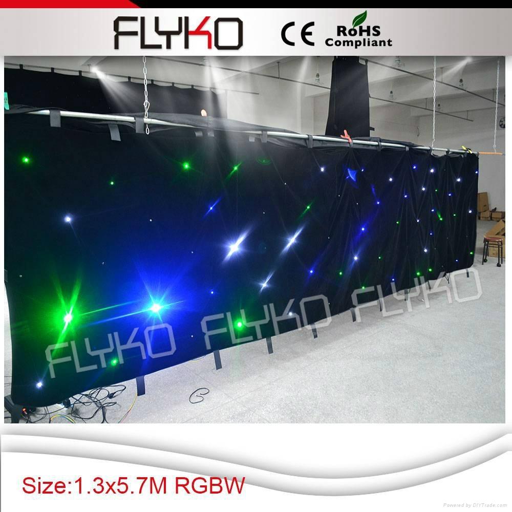RGBW color led star vision stage backdrop 4