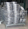 Wire mesh container cage pallet