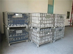 Stacking wire mesh containers