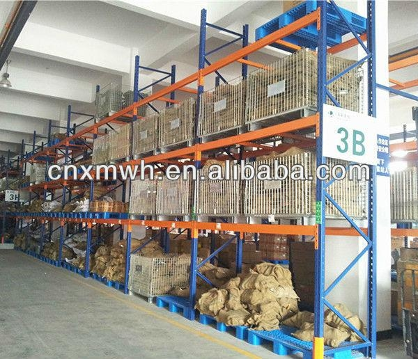 Collapsible wire mesh storage container on rack 1