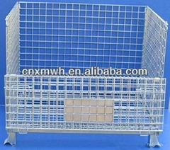 Metal collapsible galvanized garbage container