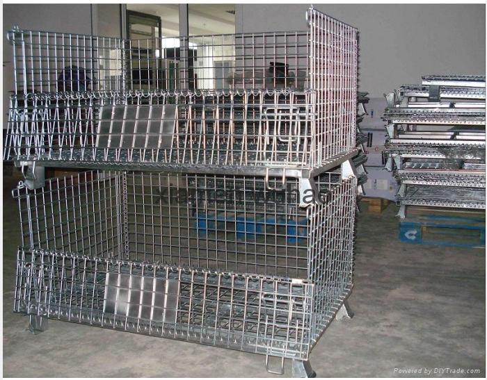 Industrial Union Steel Palletainer Jr Storage Container Wire mesh
