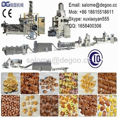 Instant Crispy Toasted Breakfast Cereals Corn Flakes Machine