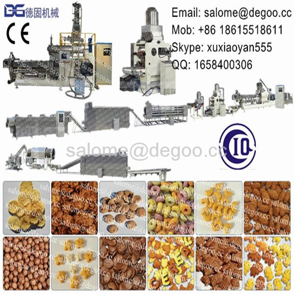 Breakfast cereal corn flakes production line 1
