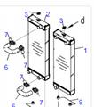 Komatsu WA470-6 radiator 421-03-44120