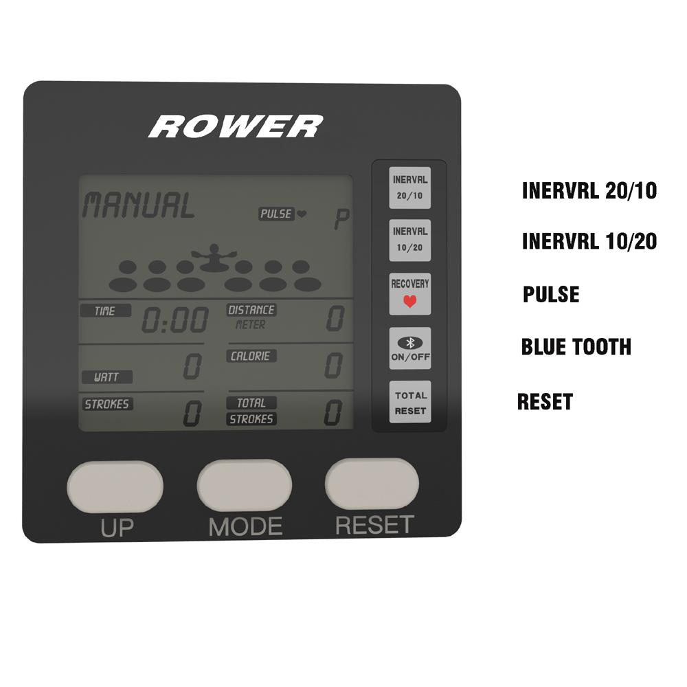 Black Air Rower Fitness Rowing Machine 2